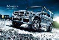 Download the G-Class price list - Mercedes-Benz UK