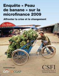 Enquête « Peau de banane » sur la microfinance 2009 Enquête « Peau ...