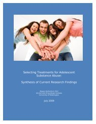 Adolescent Standards of Care - Alcohol and Drug Abuse Institute ...