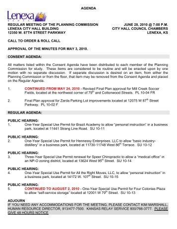 STAFF REPORT - City of Lenexa