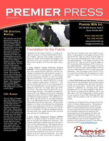 August - Premier Milk Inc.