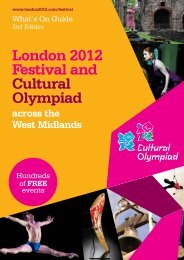 London 2012 Festival and Cultural Olympiad in the ... - Coventry 2012