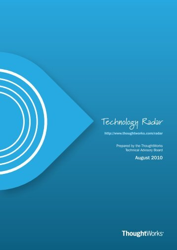 Technology Radar - ThoughtWorks