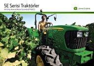 5E Serisi Traktörler - John Deere