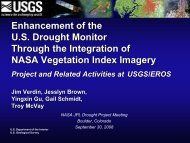 Enhancement of the U.S. Drought Monitor Through the Integration of ...