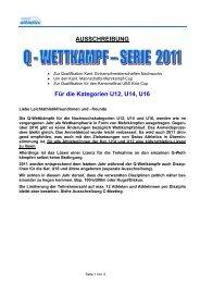 AUSSCHREIBUNG Für die Kategorien U12, U14 ... - zürich-athletics