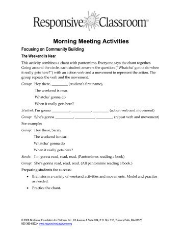 Alphabetical grid of activities and greetings responsive classroom morning meeting activities responsive classroom m4hsunfo