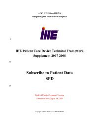 IHE Patient Care Devices Technical Framework Vol 1 (2)