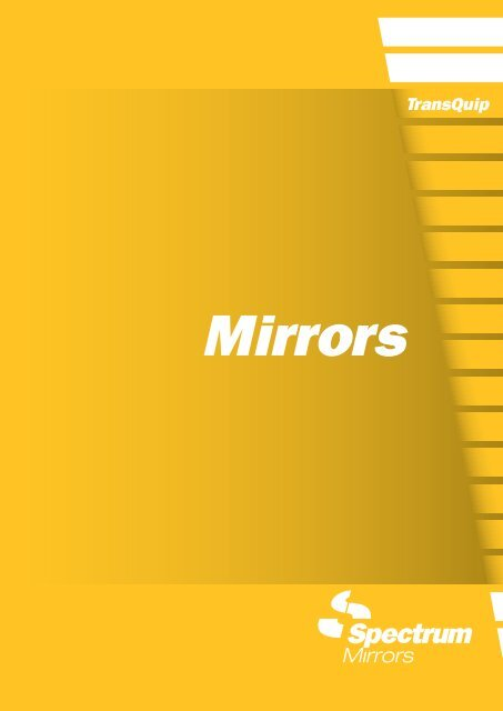 2 x Commercial Vehicle Flat Glass Mirror Head 254 x 152mm