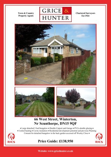 138950 66 West Street, Winterton, Nr Scunthorpe ... - Grice & Hunter