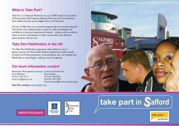 Takepart Pathfinders Programme - Manchester Metropolitan University