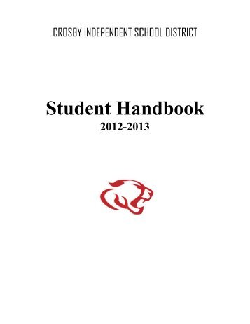 Student Handbook English - Crosby ISD