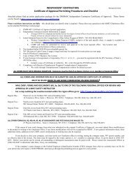 INDEPENDENT CONTRACTORS Certificate of Approval Permitting ...
