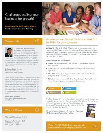 One page business plan gazelles growth