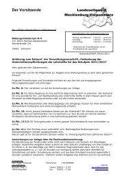 Stellungnahme zum Entwurf der Verwaltungsvorschrift