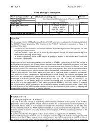 Work package 3 description - ENEN Association