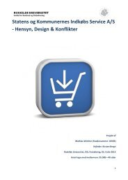Hensyn, Design & Konflikter - Roskilde Universitet
