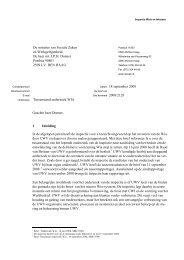 Brief aan de minister betreft tussenstand onderzoek ... - Inspectie SZW