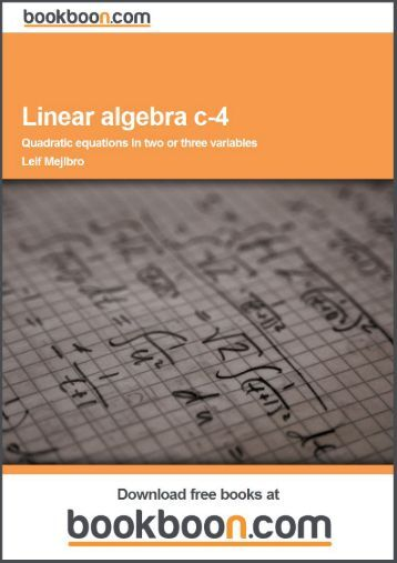 Linear algebra c-4 - Quadratic equations in two or three variables