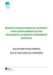 Medidas de eficiencia energética, de ahorro y otros criterios