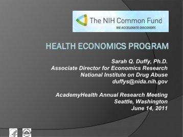 Sarah Q. Duffy, Ph.D. Associate Director for ... - AcademyHealth