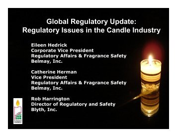 Global Regulatory Update - European Candle Association ASBL ...