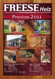 Gartenhäuser - Freese Holz