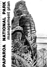 Paparoa National Park Management Plan - Department of ...