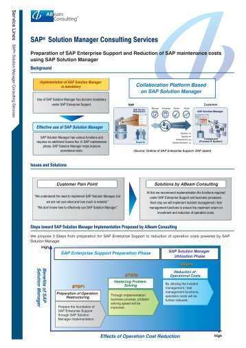 SAP® Solution Manager Consulting Services - ABeam Consulting