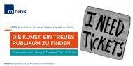 die kunst, ein treues publikum zu finden - Berliner Projektfonds ...