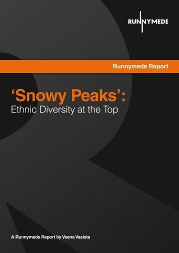 'Snowy Peaks': - Runnymede Trust