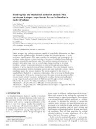 Bioenergetics and mechanical actuation analysis with membrane ...