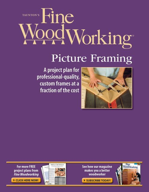 Picture Framing Fine Woodworking