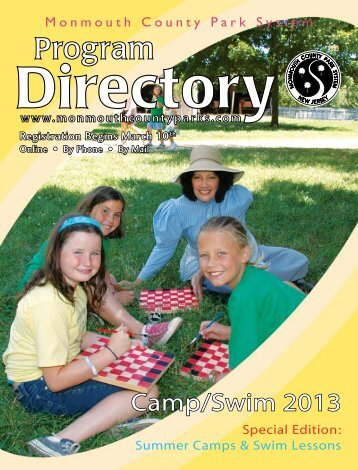 Camp/Swim Directory as PDF - Monmouth County