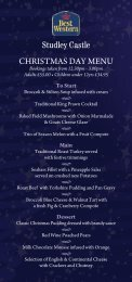 Studley Castle CHRISTMAS DAY MENU
