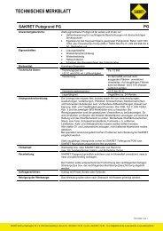 Technisches Merkblatt - SAKRET GmbH