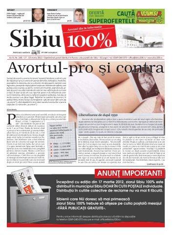 Avortul-pro şi contra - Sibiu 100