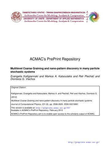 Download (583Kb) - ACMAC's PrePrint Repository