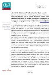 Club Magic Life amadeus Austrian Award