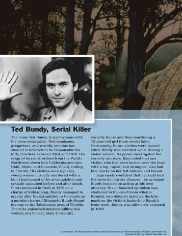 Ted Bundy, Serial Killer - Pearson Learning Solutions