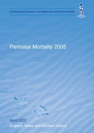 April 2007 - Perinatal Mortality 2005 - HQIP