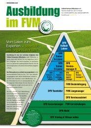 Sonderbeilage Ausbildung im FVM - Fußball-Verband Mittelrhein e.v.