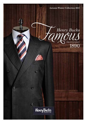 Autumn Winter Collection 2013 - Henry Buck's Menswear