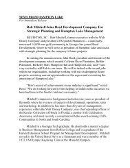 Rob Mitchell Joins Reed Development Company ... - Hampton Lake