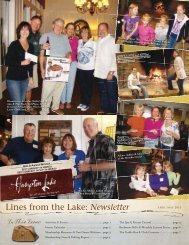 Lines from the Lake: Newsletter - Hampton Lake