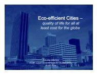Eco-efficient Cities Eco-efficient Cities - ICLEI World Congress 2006