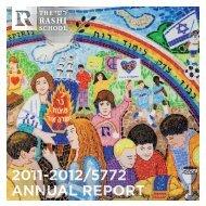 2011-2012/5772 ANNUAL REPORT - The Rashi School