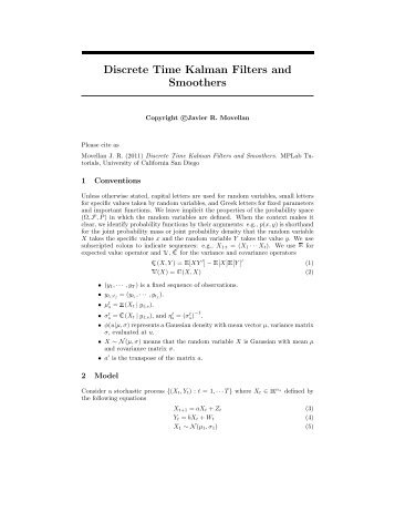 Discrete Time Kalman Filters and Smoothers