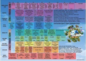 Living Earth Festival program