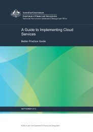 A Guide to Implementing Cloud Services - Australian Government ...